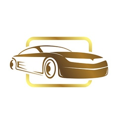 Sports car template vector