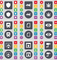 Badge trumped marijuana truck file vision monitor vector
