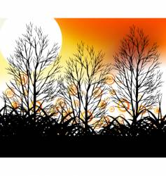 Silhouette trees vector