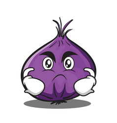 angry red onion character cartoon vector image vector image