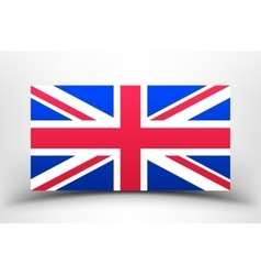 Britain Flag with soft shadow vector image vector image