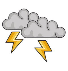 clouds storm electric icon vector image vector image