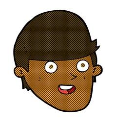 comic cartoon man with big chin vector image