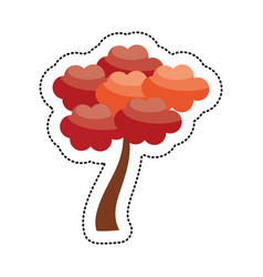 Cute tree japanese decoration image vector