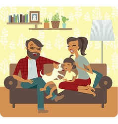 Famuly flaying with child vector image