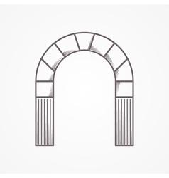 Flat line design round arch vector image