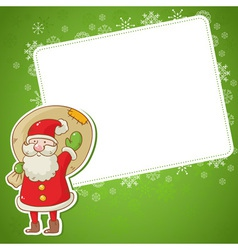 Merry Christmas greeting card with cute Santa vector image vector image