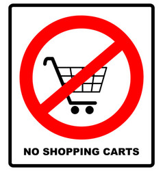 No shopping cart sign vector