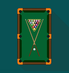 Pool table with balls vector