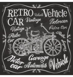 Retro car logo design template vehicle or vector