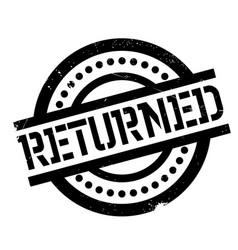 Returned rubber stamp vector