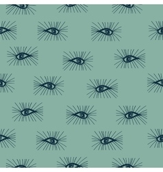 Seamless pattern eyes hand drawn vector image