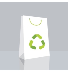 shopping bag with recycle symbol vector image