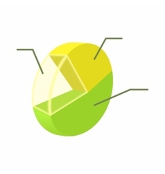 Statistics icon cartoon style vector image vector image