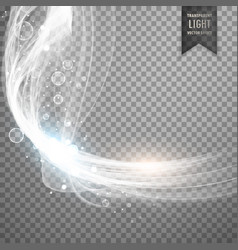 Transparent white light effect background vector