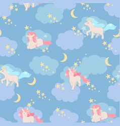 unicorns seamless pattern elements for vector image vector image