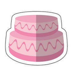wedding cake sweet image vector image vector image