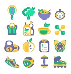Healthy Diet And Fitness Related Objects vector image