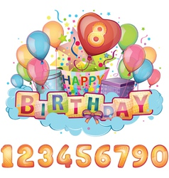 Happy Birthday balloon set vector image