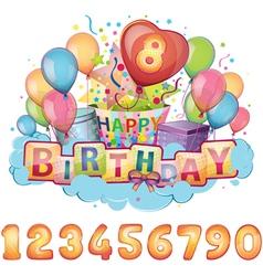 Happy birthday balloon set vector