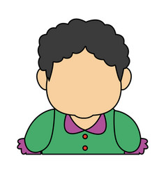 Portrait of lovely grandmother old woman adult vector