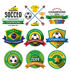Soccer football badge and labels vector