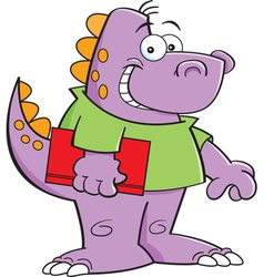 Cartoon dinosaur kid vector