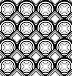 Seamless geometric background simple black and vector