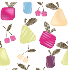 Seamless decorative pattern with fruits vector