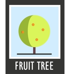 Sign of fruit tree on a blue background vector