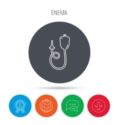 Enema icon medical clyster sign vector
