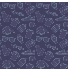 Seamless patterns of male for online store vector