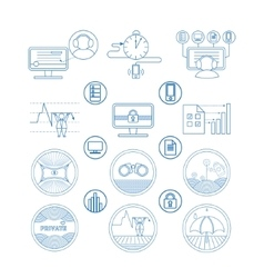Set icons and pictogram vector image