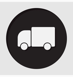 Information icon - lorry car vector