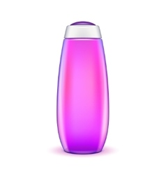 Oil shower gel bottle of shampoo violet vector