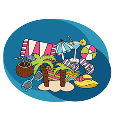 beach and travel design set vector image vector image