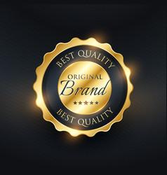 best quality premium label badge design vector image