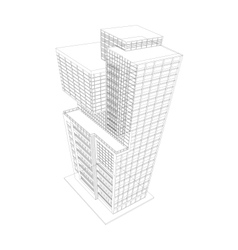Building modern wireframe vector