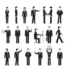 business peoples silhouettes vector image vector image