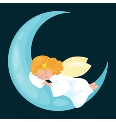christmas holiday flying angel with wings sleep on vector image vector image