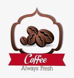 Coffee shop house design vector