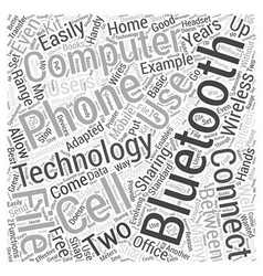 Connecting many with bluetooth word cloud concept vector