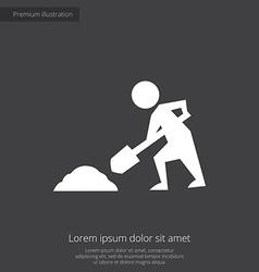 Construction works premium icon white on dark back vector