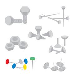 Equipment handcraft pin knot cartoon vector