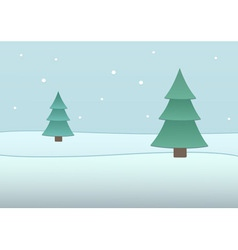 fir-tree background vector image