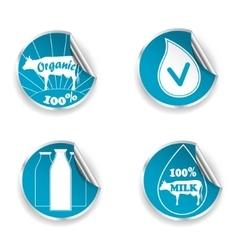 Fresh Milk Stickers vector image