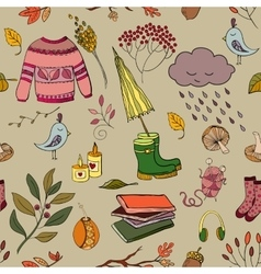 Handdrawn autumn design vector image