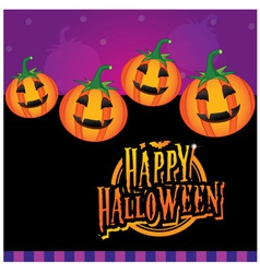 Happy Halloween for Kids vector image vector image