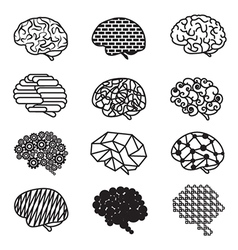 Human Brain Designs Icon Set vector image vector image