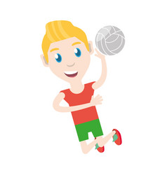 Man playing volleyball vector